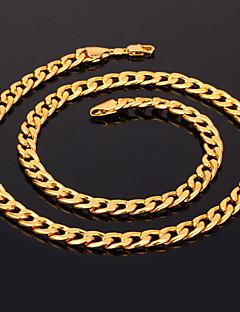 Naisten Kaulaketjut Circle Shape Gold Plated Muoti pukukorut Korut Käyttötarkoitus Häät Party Erikoistilaisuus Syntymäpäivä Päivittäin