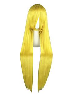 Περούκες για Στολές Ηρώων Sailor Moon Sailor Moon Κίτρινο Μακρύ Anime Περούκες για Στολές Ηρώων 100 CM Ίνα Ανθεκτική στη ΖέστηΑνδρικά /