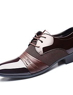 Bărbați Oxfords Saboți Primăvară Toamnă Pantofi formale PU Nuntă Outdoor Birou & Carieră Casual Party & Seară Toc Plat Dantelă Altele