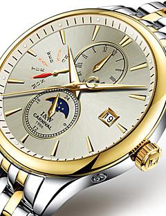 Carnival Bărbați Ceas Sport Ceas La Modă ceas mecanic Iluminat faza Lunii Mecanism automat Oțel inoxidabil Bandă Cool Casual Alb Auriu