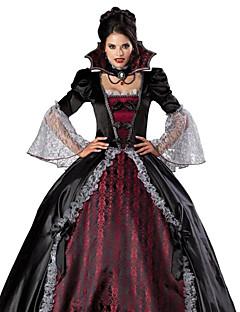 Cosplay Kostumer Festkostume Spøgelse Zombie Vampyr Festival/Højtider Halloween Kostumer Rød/Sort Vintage Kjole HalskædeHalloween Jul
