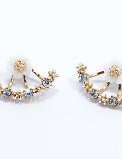 Žene Sitne naušnice Moda Simple Style kostim nakit Plastika Flower Shape Tratinčica Jewelry Za Vjenčanje Party Dnevno Kauzalni