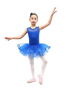 Ballet Jurken Kinderen Opleiding Katoen Geplooide 1 Stuk Mouwloos Natuurlijk Kleding