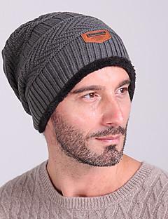 Gorro de Esqui Esqui Caps / Chapéu Homens Mantenha Quente / A Prova de Vento Pranchas de Snowboard Tecido de Lã Cinzento Cor ÚnicaEsqui /