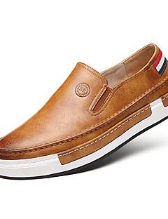 Bărbați Pantofi Imitație de Piele Primăvară Toamnă Iarnă Confortabili Mocasini & Balerini Plimbare Pentru Casual Negru Gri Galben Maro