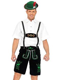 Cosplay Kostüme Party Kostüme Oktoberfest/Bier Kellner/Kellnerin Fest/Feiertage Halloween Kostüme Schwarz/Weiß Patchwork