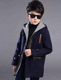 Dreng Trenchcoat Casual/hverdag Ensfarvet,Polyester Vinter Langærmet