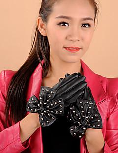 kvinners pu bowknot klinke håndleddet lengde fingertuppene søt / fest / uformell vinter mote varme hansker