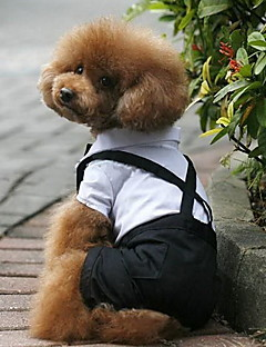 Köpekler Kostümler Smoking Siyah Köpek Giyimi Kış İlkbahar/Kış Zıt Renkli Düğün Cosplay