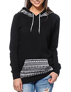 Damen Kapuzenshirt Lässig/Alltäglich Druck Rundhalsausschnitt Mikro-elastisch Polyester Langarm Herbst Winter