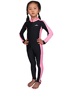 Gyermek Lány Fiú 1mm Szörfoverall Dive Skins Ultraibolya biztos Chinlon Búvárruha Hosszú ujj Rash guard Vízhőbuvárruha-Úszás Búvárkodás