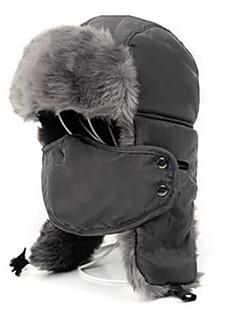 Gorro Chapka Chapéu de Pelo Esqui Máscara Facial Chapéu Homens Mulheres Térmico/Quente Pranchas de Snowboard Poliéster TosãoEsqui Acampar