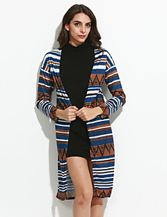 Vintage All Seasons Cloak/Capes,Patchwork Asymmetrical Long Sleeve Blue Polyester Medium
