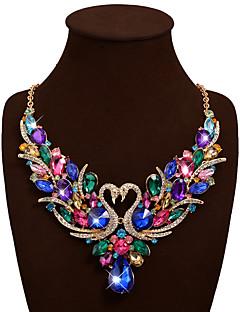 Γυναικεία Κολιέ Δήλωση Κολιέ σαν σαλιάρα Animal Shape Κύκνος Πετράδι Στρας Κράμα Βοημία Style Κοσμήματα με στυλ κοσμήματα πολυτελείας