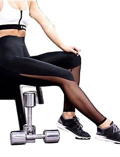 Jóga kalhoty Kalhoty Prodyšné Komprese Ter Emen Pohodlné Přírodní Natahovací Sportovní oblečení Černá Dámské Jóga Pilates Fitness Běh