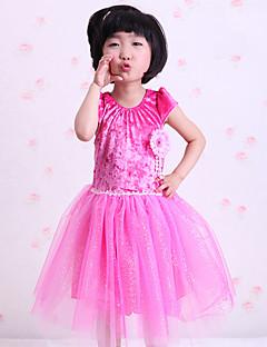 Zullen we ballet jurken kinderen prestatie ruffles splicing jurk