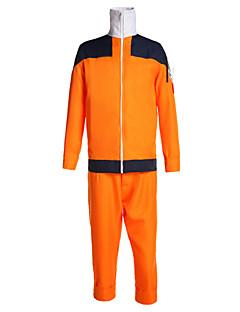 Inspiré par Naruto Naruto Uzumaki Manga Costumes de Cosplay Costumes Cosplay Mosaïque Manches Longues Manteau Pantalon Pour Masculin