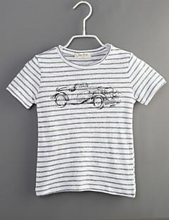 Junge T-Shirt Lässig/Alltäglich Gestreift Baumwolle Sommer Kurzarm