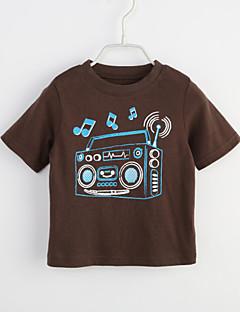 bebê Camiseta-Casual Geométrica-Algodão-Verão-