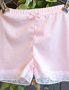Girls' Solid Underwear-Cotton-All Seasons Lace