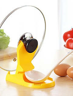 1 pcs cozinha de armazenamento titular estande prateleira colher pan pot tampa cozinhar ferramenta de decoração de cor aleatória