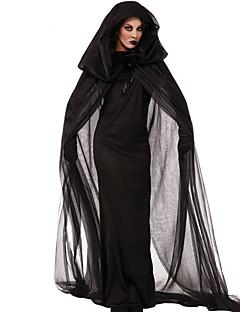 Cosplay Kostumer Festkostume Spøgelse Zombie Vampyr Festival/Højtider Halloween Kostumer Sort Vintage Kjole Kappe Halloween Jul Karneval