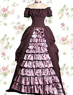 Yksiosainen/Mekot Söpö Lolita Lolita Cosplay Lolita-mekot Vaaleanpunainen Vintage Holkki Lyhythihainen Täysipitkä Leninki varten Muuta