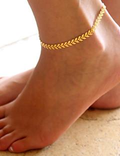 נשים תכשיט לקרסול/צמידים סגסוגת אופנתי תכשיטים Leaf Shape תכשיטים עבור יומי קזו'אל