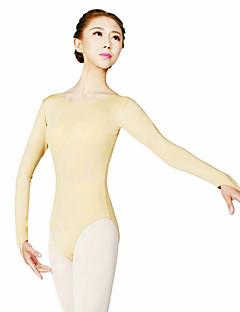 Ballet Gympakken Dames Opleiding Polyester 1 Stuk Lange Mouw Hoog Gympak