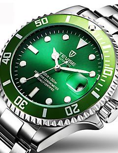 Herrn Kleideruhr Modeuhr Armbanduhr Mechanische Uhr Automatikaufzug Kalender Wasserdicht leuchtend Edelstahl Band Glanz Bettelarmband