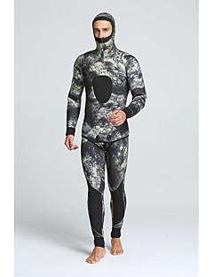 MYLEDI Férfi 5mm Nedves ruhák Szörfoverall Vízálló Melegen tartani Viselhető YKK Zipper Nejlon Neoprén Búvárruha Vízhőbuvárruha-Úszás