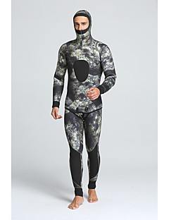MYLEDI 남성용 5mm 잠수복 전신 잠수복 방수 보온 착용 가능한 YKK 지퍼 나이론 네오프렌 잠수복 다이빙 복-수영 다이빙 봄 여름 겨울 가을