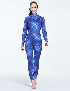 여성용 3mm 전신 잠수복 인체 해부학적 디자인 선크림 닫기 바디 친론 잠수복 긴 소매 다이빙 복-다이빙 서핑 사계절 하늘 섹시 레이디