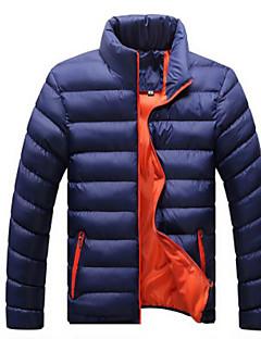 コート レギュラー ダウン メンズ,カジュアル/普段着 ソリッド コットン コットン-シンプル 長袖