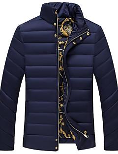 コート レギュラー パッド入り メンズ,お出かけ カジュアル/普段着 ソリッド コットン ポリプロピレン-シンプル 長袖