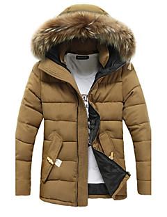 コート レギュラー パッド入り メンズ,カジュアル/普段着 ソリッド コットン コットン-シンプル 長袖