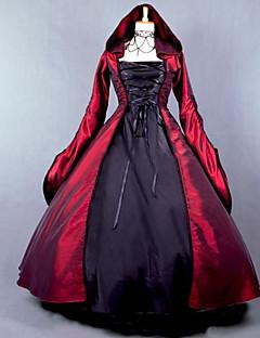 Yksiosainen/Mekot Gothic Lolita Klassinen ja Perinteinen Lolita Viktoriaaninen Cosplay Lolita-mekot N/A Pitkähihainen Täysipitkä Leninki