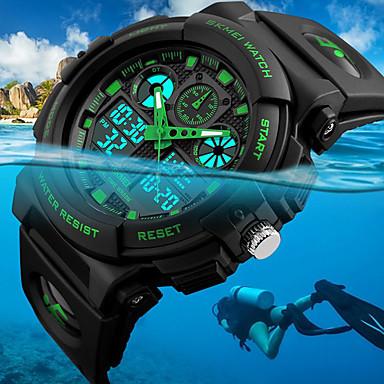 b021f61ea رخيصةأون ساعات رجالية-SKMEI رجالي ساعة المعصم ساعة رقمية الصيد ووتش ياباني  كوارتز جلد اصطناعي