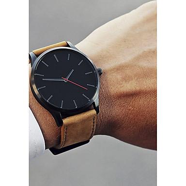15931546a رخيصةأون ساعات رجالية-رجالي ساعة فستان ساعة المعصم كوارتز جلد أسود / بني 30  m