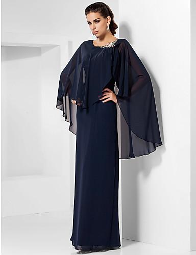 657e014fc03f Ίσια Γραμμή Με Κόσμημα Μακρύ Σιφόν Επίσημο Βραδινό Φόρεμα με Κρυστάλλινη  λεπτομέρεια με TS Couture®