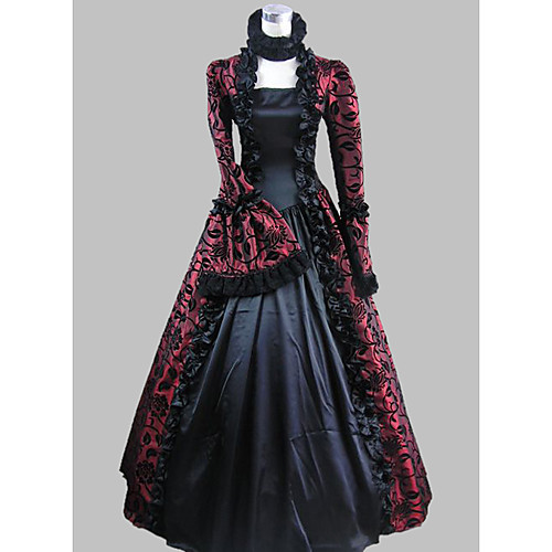 Dynamic 18th Century Gown Upscale Rococo Carnivale Princess Dress Marie Antoinette Printed Masquerade Gown Women's Clothing