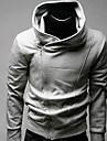 Men's Hoodie Solid Color Thicken Fleece