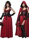 Costume Cosplay Costume petrecere DinBasme Festival/Sărbătoare Costume de Halloween Roșu Imprimeu Rochie Manta Halloween Carnaval Feminin