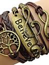 Pentru femei Bratari Wrap Inspirațional plaited Vintage costum de bijuterii Piele  Aliaj Iubire Infinit Copacul Vieții Bijuterii Pentru