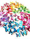 Pvc 3d simulare colorat autocolante de perete fluture 12buc / set