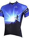 ILPALADINO Maillot de Cyclisme Homme Manches Courtes Velo Maillot Hauts/Tops Sechage rapide Resistant aux ultraviolets Respirable