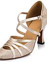 Latin - Pantofi de dans (Negru / Ivoriu / Argintiu) - Personalizat - Pentru femei