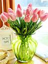 Une succursale Polyurethane Contact reel Tulipes Fleur de Table Fleurs artificielles 33.5*4.5cm