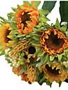 5 Une succursale Soie Plastique Tournesols Fleur de Table Fleurs artificielles 8.4 x 25.4(3.3\'\' x 10\'\')