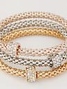 Pentru femei Brățări cu Talismane Design Basic costum de bijuterii stil minimalist La modă European Multistratificat Ștras Diamante